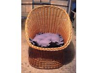 Wicker chair in excellent condition
