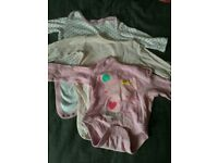 Baby girl 3-6 long sleeved vests