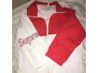 Supreme x Lacoste Track Jacket Red