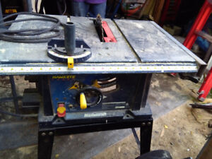 mastercraft table top table saw