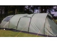 6 person Vango Icarus 600 Moss + enclosed canopy for sale