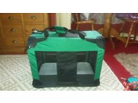 folding pet carry cage & leads