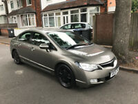 2008 HONDA CIVIC GREY 1.3 HYBRID AUTOMATIC, LOW MILEAGE HPI CLEAR FULL SRVICE HISTORY