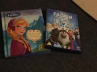 Frozen DVD with frozen book