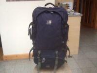 Superb,tough Karrimor Global SA Supercool 70 to 90 litre expander travel rucksack-side opening