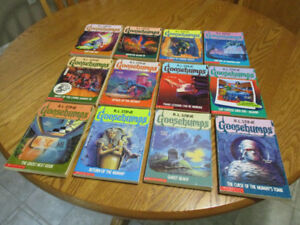 12 Goosebumps Books  excellent and clean