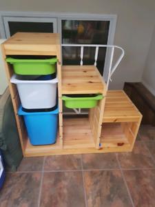 Ikea box storage shelf