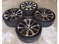 19'' GENUINE BMW M3 E90 E91 E92 E93 220M SPORT ALLOY WHEELS TYRES 5X120