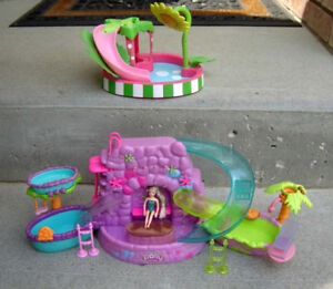3 Polly Pocket Playsets and Strawberry Shortcake Pool