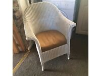 Lloyd loom chair with sprung seat