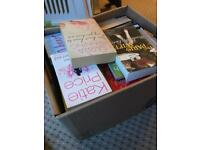 Box of women's fiction books