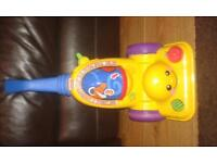 Fisherprice toy Hoover with music and sounds