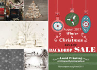 15% OFF Christmas and Winter Backdrops