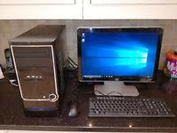 "custom build pc amd 4 core 2 gb 320 hd wifi 19"" hp lcd"