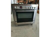 Stainless Steel A+ Class Bosch Gas Range Cooker With 5 Burners And Single Oven