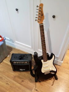 Great Starter Electric Guitar with Amp and Stand