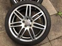 Genuine Audi A3 18 Inch Alloys Wheels black edition s line breaking cheap s3 a4 a6 golf gt tdi gtd