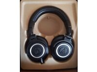 Audio-Technica ATH-M50X Almost New Boxed With optional case