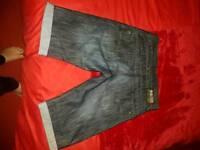 Men's crosshatch Jean shorts
