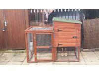 Custom built rabbit hutch
