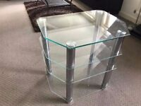 Glass four-tier Hi-Fi stand in excellent condition