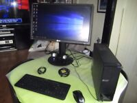 """ACER ASPIRE 1TB 4GB DDR3 MEMORY + LG Flatron E2411 24""""LED LCD + HP SPEAKERS+ ACC 175 POUND ONO"""