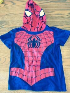 Great Condition -Spiderman Hooded Shirt; Sizes 5