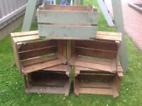 Old style Wooden Crates for sale