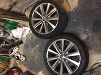 Volkswagen Golf Alloy Wheels x4 with tyres