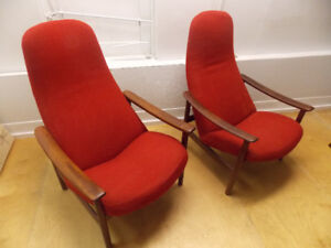 WOW -Pair of  Danish Rosewood chairs by Alf Svensson