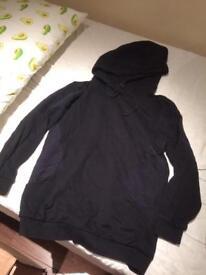 All saints women's black hoodie