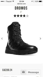 "Men's size 10 police style boot 8"" tall brand new"