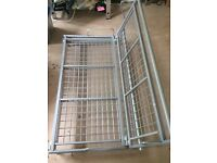 Grey metal frame for 2 seater / double sofa futon bed