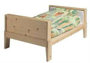 Ikea VIKARE Extendable Bed Frame - Soild Wood - Toddler to Twin