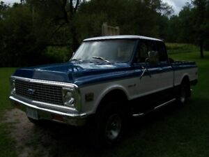 ONE OF A KIND  1972 CHEV 4X4 SHORT BOX