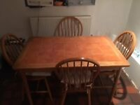 4 seater kitchen table with ceramic tile top