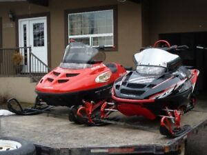 2 Sleds and Trailer for Sale