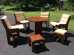 Adjustable dining table  / card table / conversersation set