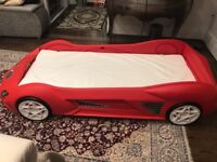 Storm kids Toddler Racing Car Bed With Light