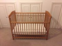 Cosatto Cot (wooden) with mattress