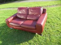 Designer Violino Soft Italian Leather 2 Seater Sofa