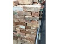 3 inch old red reclaim bricks