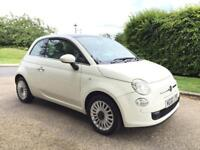 FIAT 500 LOUNGE 1.2 2011 PAN GLASS ROOF.FACE LIFT MODEL WITH STOP START,DRIVES PERFECT. AIR CON.