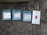 Volex Stainless Steel Joblot (switches,sockets,etc)