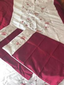 Dunelm Mill King bedding set with matching curtains