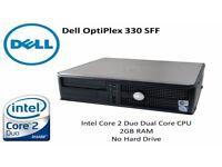 Dell OptiPlex 330 SFF - Intel Core 2 Duo E4600 - 2GB RAM - No HDD