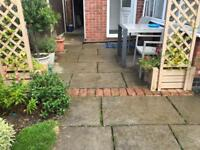 York Paving Slabs (reconstructed) plus brick edging SOLD