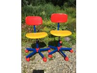 Vintage IKEA children's swivel chairs. 2 for sale individually.