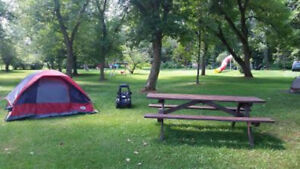 campsite, camping and fishing.