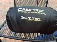 Campri blue sleeping bag plus ground pad